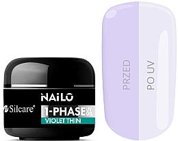 Düfte, Parfümerie und Kosmetik UV-Nagelgel mit violetten Schimmer - Silcare Nailo 1-Phase Gel UV Violet Thin