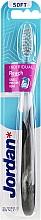 Düfte, Parfümerie und Kosmetik Zahnbürste weich Individual Reach schwarz-transparent - Jordan Individual Reach Toothbrush Soft