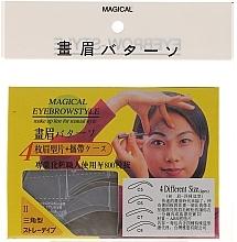 Düfte, Parfümerie und Kosmetik Augenbrauenschablonen Größe C5, C6, C7, B8 - Magical Eyebrow Style