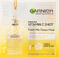 Düfte, Parfümerie und Kosmetik Energetisierende und feuchtigkeitsspendende Tuchmaske mit Vitamin C - Garnier SkinActive Fresh-Mix Sheet Mask with Vitamin C
