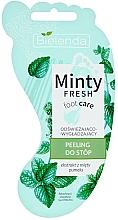 Düfte, Parfümerie und Kosmetik Glättendes und erfrischendes Fußpeeling mit Minzextrakt - Bielenda Minty Fresh Foot Care Refreshing & Smoothing Foot Peeling