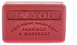 Düfte, Parfümerie und Kosmetik Handgemachte Naturseife I Love You - Foufour Savonnette Marseillaise I Love You