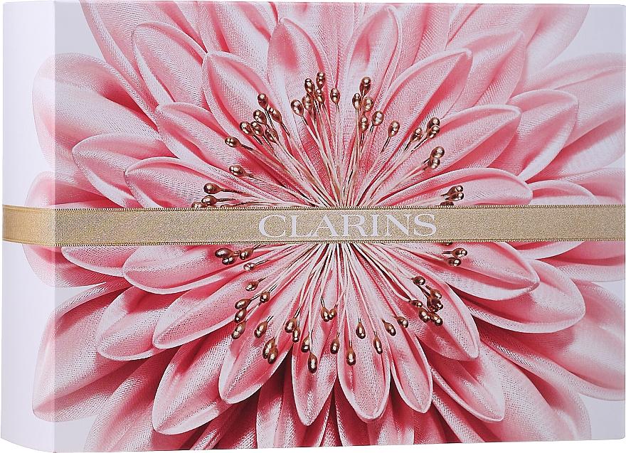 Gesichtspflegeset - Clarins Extra-Firming Collection (Straffende Tagescreme 50ml + Straffende Nachtcreme 15ml + Gesichtsmaske 15ml + Kosmetiktasche)