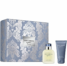 Düfte, Parfümerie und Kosmetik Dolce&Gabbana Light Blue Pour Homme - Duftset (Eau de Toilette 75ml + After Shave Balsam 50ml)