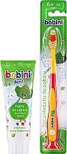 Düfte, Parfümerie und Kosmetik Mundpflegeset für Kinder - Bobini (Zahnbürste 6+ weich rot-gelb 1St. + Zahnpasta mit mildem Minzgeschmack 75 ml)