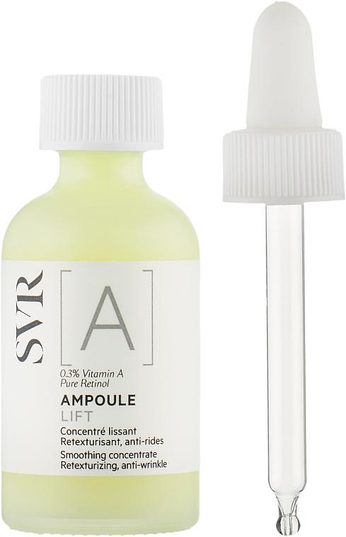 Glättendes Anti-Falten Lifting-Gesichtskonzentrat mit Vitamin A und Retinol - SVR [A] Ampoule Lift Smoothing Concentrate