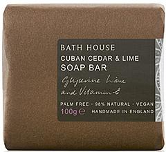 Düfte, Parfümerie und Kosmetik Bath House Cuban Cedar & Lime - Parfümierte Seife Cedar & Lime