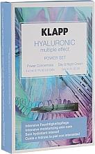 Düfte, Parfümerie und Kosmetik Gesichtspflegeset - Klapp Hyaluronic Multiple Effect Power Set (Gesichtskonzentrat 3x2ml + Gesichtscreme 3ml)
