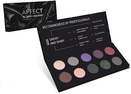 Lidschattenpalette mit 10 Farben - Affect Cosmetics Smoky And Shiny Eyeshadow Palette