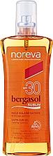 Düfte, Parfümerie und Kosmetik Satiniertes trockenes Sonnenöl für Gesicht und Körper SPF 30 - Noreva Bergasol Sublim Satin Sun Oil Optimal Tanning SPF30