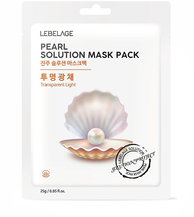 Pflegende Tuchmaske mit Perlenextrakt - Lebelage Pearl Solution Mask