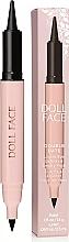 Düfte, Parfümerie und Kosmetik Doppelseitiger Augenkonturenstift & Kajalstift - Doll Face Double Date Liquid Eye Definer & Smokey Kajal