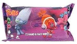 Düfte, Parfümerie und Kosmetik Feuchte Hand- und Gesichtstücher für Kinder - Corsair Trolls Hand & Face Wipes