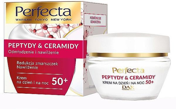Verjüngende und feuchtigkeitsspendende Gesichtscreme mit Peptiden und Ceramiden 50+ - Perfecta Peptydy&Ceramidy
