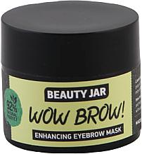 Düfte, Parfümerie und Kosmetik Augenbrauenmaske mit Macadamia-, Jojoba- und Rizinusöl - Beauty Jar Wow Brow! Enhancing Eyebrow Mask