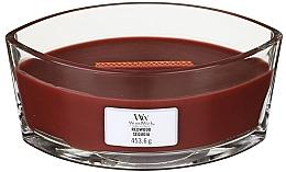 Düfte, Parfümerie und Kosmetik Duftkerze im Glas Redwood - Woodwick Hearthwick Flame Ellipse Candle Redwood