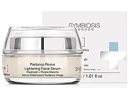 Düfte, Parfümerie und Kosmetik Aufhellendes Gesichtsserum mit weißer Pfingstrose - Symbiosis London Radiance Revive Lightening Facial Serum