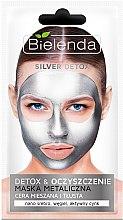 Düfte, Parfümerie und Kosmetik Detox Gesichtsmaske für fettige und Mischhaut - Bielenda Silver Detox Metallic Mask