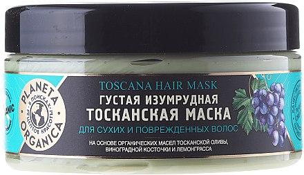 Smaragdgrüne toskanische Maske für trockenes und strapaziertes Haar - Planeta Organica Toscana Hair Mask