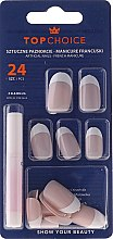 Düfte, Parfümerie und Kosmetik Künstliche Nägel French Manicure - Top Choice