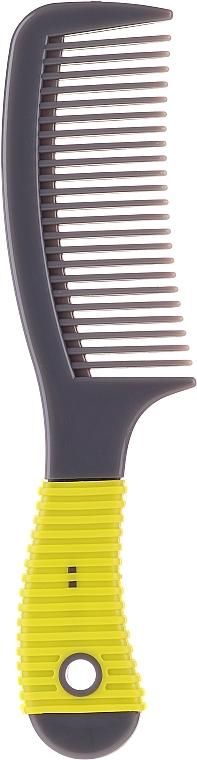 Haarkamm mit Gummigriff 499835 gelb-schwarz - Inter-Vion — Bild N1