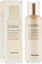 Düfte, Parfümerie und Kosmetik Nährende und energiespendende Gesichtsemulsion mit Arganöl und Saflorextrakt - Tony Moly Floria Nutra-Energy Emulsion
