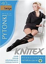 Düfte, Parfümerie und Kosmetik Damenkniestrümpfe mit entspannender Wirkung 40 Den beige - Knittex