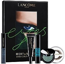 Düfte, Parfümerie und Kosmetik Augenpflegeset (Lidschatten 4.5ml + Lidschatten 2g + Künstliche Wimpern 2St. + Wimpernkleber 1g + Mascara 8ml) - Lancome Eyes Cold As Eyes Kit Blue