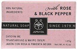 Düfte, Parfümerie und Kosmetik Naturseife mit Rose und schwarzem Pfeffer - Apivita Soap with Rose and Black pepper
