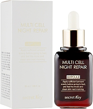 Düfte, Parfümerie und Kosmetik Anti-Aging Nachtserum - Secret Key Multi Cell Night Repair Ampoule