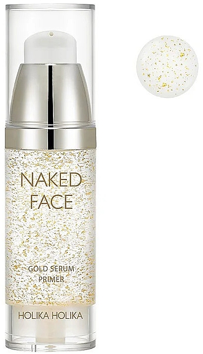 Gesichtsserum-Primer mit Perlenextrakt und Gold - Holika Holika Naked Face Gold Serum Primer