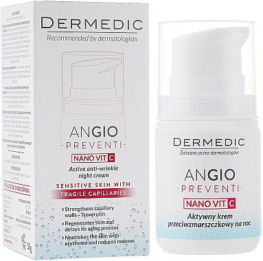 Aktive Nachtcreme gegen Falten - Dermedic Angio Preventi Active Anti-Wrinkle Night