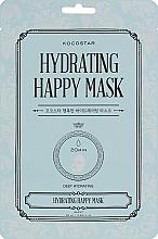 Düfte, Parfümerie und Kosmetik Intensiv feuchtigkeitsspendende Tuchmaske für das Gesicht mit Hyaluronsäure, Ceramiden und pflanzlichen Extrakten - Kocostar Hydrating Happy Mask