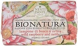 Düfte, Parfümerie und Kosmetik Naturseife mit Bio-Himbeeren und Bio-Brennnesselblättern für empfindliche Haut - Nesti Dante Bio Natura Bush Raspberry & Nettle Soap