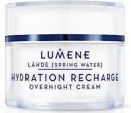Düfte, Parfümerie und Kosmetik Feuchtigkeitsspendende Nachtcreme - Lumene Lahde Hydration Recharge Overnight Cream
