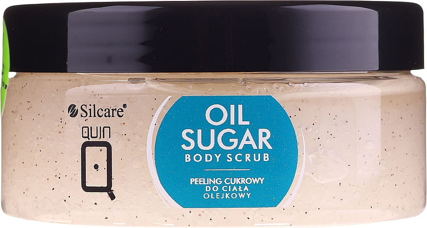 Natürliches Zuckerkörperpeeling mit Rizinus-, Pfirsich- und Avocadoöl - Silcare Quin Sugar Body Peel Oil