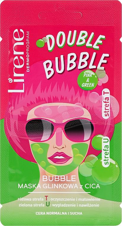 Schaummaske für das Gesicht mit Ton - Lirene Double Bubble Cica Mask