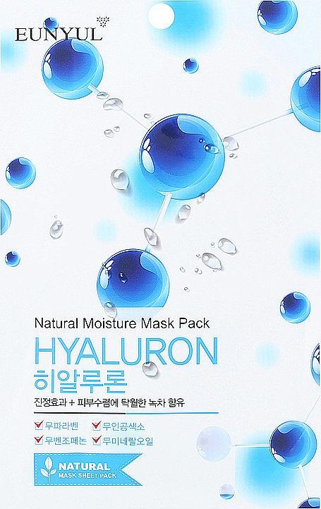 Feuchtigkeitsspnedende Tuchmaske mit Hyaluronsäure - Eunyul Natural Moisture Hyaluron Mask Pack