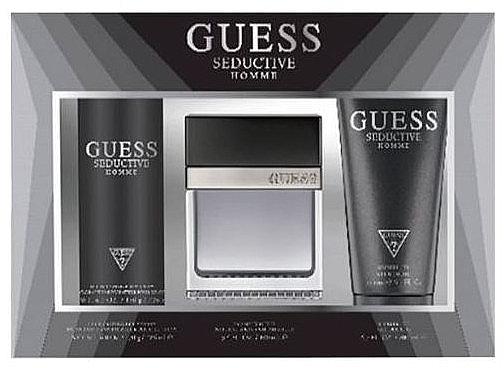 Guess Seductive Homme - Duftset (Eau de Toilette 100 + Deospray 226ml + Duschgel 200ml)