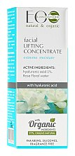 Düfte, Parfümerie und Kosmetik Feuchtigkeitsspendendes Lifting-Konzentrat mit Hüaluronsäure und Rosenblütenwasser - ECO Laboratorie