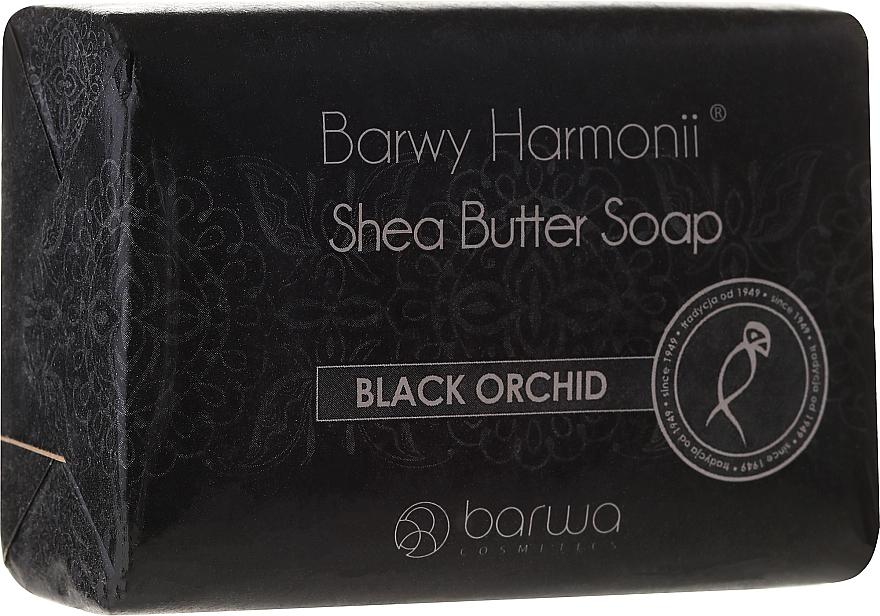 Sheabutter Seife mit Schwarzer Orchidee - Barwa Harmony Soap Black Orchid