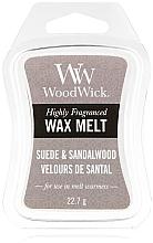 Düfte, Parfümerie und Kosmetik Duftwachs Wildleder & Sandelholz - WoodWick Wax Melt Suede & Sandalwood