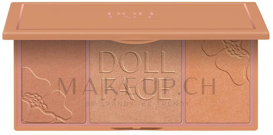 Highlighter Palette - Doll Face Glow Baby Glow Highlighting Palette — Bild Beach Bunny Bronze