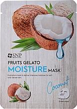 Düfte, Parfümerie und Kosmetik Feuchtigkeitsspendende Tuchmaske mit Kokosnuss - SNP Fruits Gelato Moisture Mask Coconut