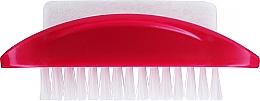 Düfte, Parfümerie und Kosmetik 2in1 Hand- und Fußreinigungsbürste mit Bimsstein himbeerrot - Konex Two-sided Foot And Toenail Brush With Rough Pumice
