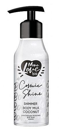 Schimmernde Körpermilch mit Kokosnuss - MonoLove Bio Shimmer Body Milk Coconut Cosmic Shine