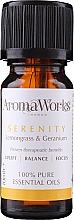 Düfte, Parfümerie und Kosmetik Ätherische Ölmischung mit Zitronengras und Storchschnäbel - AromaWorks Serenity Essential Oil