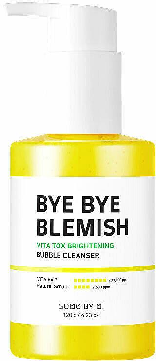 Aufhellende und reinigende Schaummaske für das Gesicht mit Vitamin C - Some By Mi Bye Bye Blemish Vita Tox Brightening Bubble Cleanser