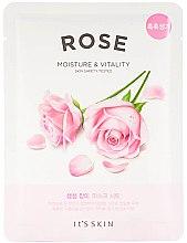 Düfte, Parfümerie und Kosmetik Tuchmaske für Gesicht mit Rosenextrakt und grünem Tee - It's Skin The Fresh Rose Mask Sheet