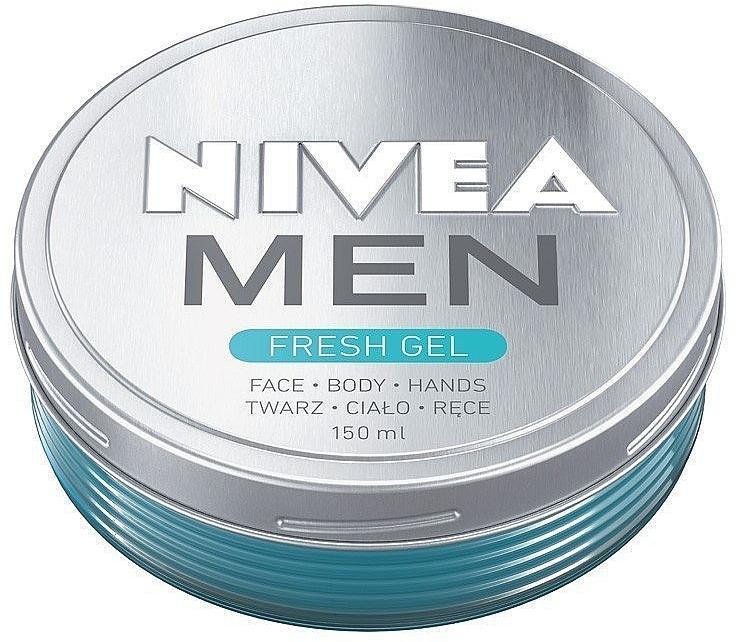 Feuchtigkeitsspendende Gelcreme für Gesicht und Körper - Nivea Men Fresh Gel
